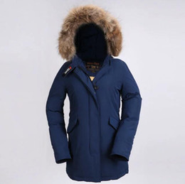 Wholesale Ladies Feather Down Jackets - Winter Ladies Long Fashion Parkas Hooded with Fur Outerwear Casual Coat Outdoor Jacket Woman New Slim Fit Outfit