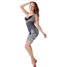 Wholesale Bamboo Shapewear - Wholesale- Promotion !!! Women's body shaper High Quality Slim Corset Slimming Suits Bodysuit Shapewear Bamboo Charcoal Sculpting Under