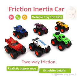 Wholesale Inertia Toy Car - 1 48 6 in 1 Kit Two-way Friction Car Inertia Car Vehicle Toy for Kids