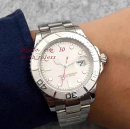 Wholesale Master Digital - Original Box Mens luxury Yacht Master Automatic Mechanical Mens Watch 116622 Silver dial 40mm Sapphire Crystal Mens Automatic Sport Watches