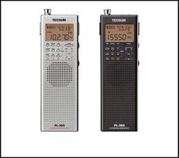Wholesale Dsp Speakers - TECSUN Mini Portable Shortwave Radio PL-360 with Antenna ,PLL synthesized DSP AM FM SW LW MW World Band Receiver