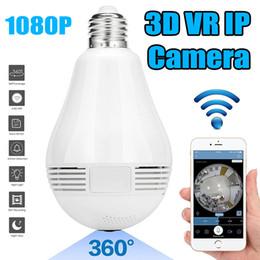 lampade di angelo Sconti Fisheye Telecamera panoramica senza fili Telecamera IP senza fili WiFi 1080P 960P Vista a 360 gradi Lampada angelo