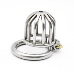Dispositivo per castità maschile in acciaio inossidabile Gabbia per cazzi per adulti con anello per pene a forma di arco BDSM Sex Bondage Men Belt Cintura per uomo da vestiti di castità fornitori