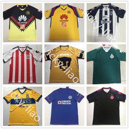 Wholesale Chivas Soccer - Club America Chivas Monterrey Tigres Cruz Azul UNAM Tijuana Leon Home Away Third Shirt 2018 Soccer Jerseys uniform kit Guadalajara Xolos MX