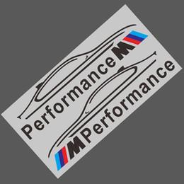 Miroirs bmw en Ligne-2 PCS M Performance Logo Rétroviseur De Voiture Autocollants Décoration Pour BMW E34 E36 E39 E60 E90 F10 F30 M3 M5 M6 Voiture-Styling