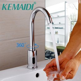 Wholesale Automatic Tap Sensor - KEMAIDI Bathroom Basin Faucet Torneira Automatic Hands Touch Sensor Faucets Bathroom Brass Sink Chrome Faucets & Taps Water Tap