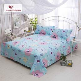 rosenbettdecken Rabatt Slowdream Flat Sheet Nordic Bett Fresh Style Tröster Tagesdecke Twin Queen King Single Doppelbett Bettwäsche Adult Flat Sheets