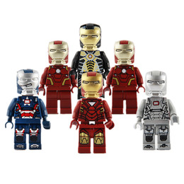 Wholesale Pattern Puzzles - IRONMAN Avengers Toys Building Blocks Bricks Minifig HULK CAPTAIN AMERICA X-MAN Wolverine BAT MAN Deadpool Puzzles bat man 6 Patterns pp bag