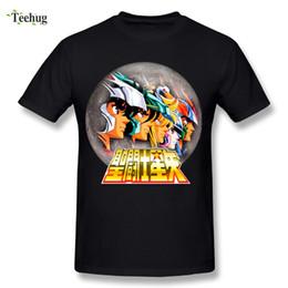 Novedad Boy Saint Seiya Caballeros de la camiseta del zodiaco Camiseta clásica clásica del diseño de la historieta del animado del animado desde fabricantes