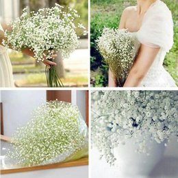 Wholesale White Gypsophila Flowers - 2018 HOT Artificial Flowers Gypsophila silk baby breath Artificial Fake Silk Flowers Plant Home Wedding Decoration for Party