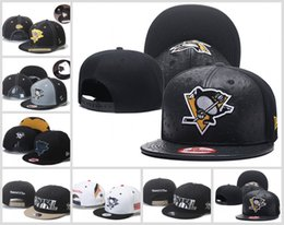 Wholesale Cheap Cycling Hats - 2018 the latest cheap Pittsburgh Penguin hockey hat Embroidery men women hat