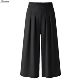 9fdc6f015dd ANASUNMOON Summer Autumn Plus Size Women Casual Loose Cotton Linen Pants  Wide Leg Stretch Trouser Vintage Pants Female Clothing D1892605