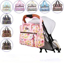 Wholesale Large Diaper Bag Tote - 9 Colors Cartoon Printed Diaper Bags Large Capacity Mummy Bag Waterproof Portable Multifunction Pregnant Diaper Nappy Bag CCA9127 10pcs