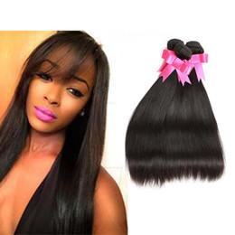 Malezya Bakire Saç Düz 3 Demetleri Işlenmemiş Malezya Düz İnsan Saç Uzantıları Doğal Renk 12-24 Inç Mix Uzunluk Örgüleri cheap colour hair extensions nereden renkli saç uzatmaları tedarikçiler