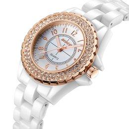 Wholesale Beautiful Womens - Diamond Ceramic strap Womens Watches Beautiful Creative Luxury Brand Fashion Wristwatch Waterproof Quartz Women Watch Wholesale