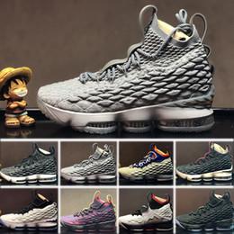 outlet store cad12 86c4c Nike Lebron 15 LBJ15 018 Nuovo arrivo Scarpe da basket per uomo scarpe  firmate 15 Nero Bianco Rosso 15s Scarpe da ginnastica allenamento sportivo  EP Taglia ...