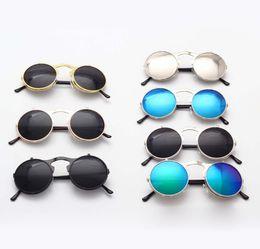 Wholesale prince frames - 2018 Retro Metal Steampunk Flip-Front Sunglasses Flip Sunglasses Fashion Flip-Flops for Men and Women Round Frame Prince mirror A469