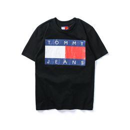 Wholesale l men model hot - Mens T Shirts 2018 Summer Cotton T Shirt Hot Brand Round Neck Short Sleeve Couple Models Tops Loose Casual Short Tees