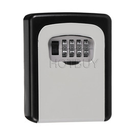 Wholesale Secret Box Lock - Home Durable Storage Box Money Key Hider 4 Digit Security Secret Code Lock Wall Mounted Combination Password Keys Locked #4667