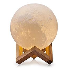 Lampe de lune, lumière imprimée par 3D, commande tactile, stepless dimmable, blanc froid blanc chaud, matériel de PLA, recharge d'USB, diamètre 5,9 pouces ? partir de fabricateur