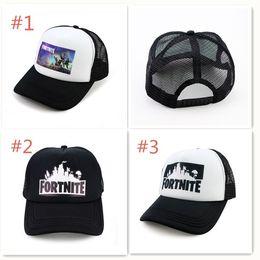 Wholesale hat male - Fortnite Cap man baseball cap male snapback summer Breathable hats bone man hip hop hat for women funny Quick drying caps