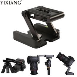 top dslr kameras Rabatt YIXIANG Z typ tilt stativkopf Flex faltung Z pan für Canon Nikon Sony DSLR kamera aluminiumlegierung Top qualität garantiert metall