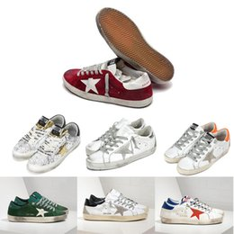 Wholesale Pink Goose - High quality Golden Goose Ggdb old style sneakers Genuine Leather Villous Dermis Casual Shoes Mens And Women Luxury Superstar trainer 3