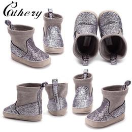 purpurina zapatos bebé niña Rebajas Cathery Fashion Baby Girl Glitter Botas de nieve Botines de invierno Infant Toddler Newborn Shoes 0-18M