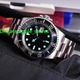 Wholesale Eta Dive Watch - Luxury Perpetual Automatic Asia Eta 2831 Date Watch Men Ceramic Black Dial 126600 box Glidelock Clasp Dive Basel 43mm diving Resistant Watch