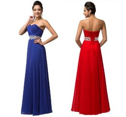 Wholesale Products Services - 2018 New Product Red Blue Chiffon Wedding Dress Wedding Dress Toast Service Bridesmaid Sexy Long Paragraph Dresses HY1801