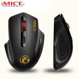 Wholesale Laptop Power Saving - Ergonomics 2.4GHz Wireless Mouse USB 3.0 Receiver Optical Computer Mouse Power Saving Design Cordless Gaming Mice For PC Laptop