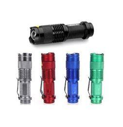 Flaş Işık 7 W 300LM CREE Q5 LED Açık Yürüyüş Kamp Fener Meşale Ayarlanabilir Odak Yakınlaştırma su geçirmez fenerleri Lamba Meşaleler 300 Adet nereden