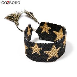 Wholesale Go2boho Dropshiping Grossistes MIYUKI Perles de Rocaille Bracelet Bijoux Hommes Bracelets Ethniques Étoiles Tissés Amitié Meilleurs Cadeaux Femmes