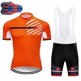 2018 naranja Verano de secado rápido Jersey Ciclismo Montar en bicicleta Ropa 9D GEL PAD Top de bicicleta de montaña Conjunto de pantalones cortos para ciclistas Bicicletas Maillot Culotte desde fabricantes