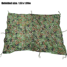 Wholesale Camo Car Covers - Hunting Camping Camo Net 1.53 X1.99 m Woodland Leaves Camouflage Net Jungle Leaves Camo Net For Car Shade Cloths Cover