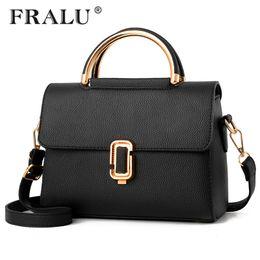FRALU Women Bag Pu Leather Tote Brand Name Bag Ladies Handbag Lady Evening Bags  Solid Female Messenger Bags Travel Fashion Sac 838c2a9b32708