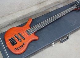 Canada Guitare basse électrique orange 2018 à 5 cordes avec touche en ébène, hardwares noir, bonne qualité Offre