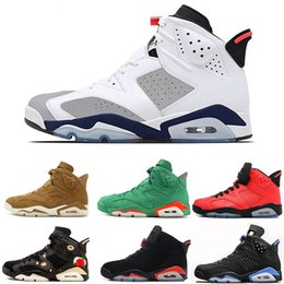 3e0eb88d137 6s Basketball Shoes For Men Tinker 6 VI Luxury Sneakers Designer White  Infared Black Cat CNY UNC Gatorade Green trainers outdoor sport shoes