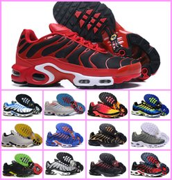 Wholesale champagne black lace shoe - Free Shipping 2018 New Tn Shoes Mens Sneakers Breathable Air Cusion Shoes Casual Running Shoes New Arrival 33 Colors 40-46
