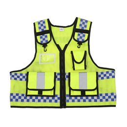 Wholesale Yellow Reflective Vest - Men's Motorcycle Reflective Safety Vest Cycling Safety Work Cloth Reflective Vests 360 Degrees High Visible Tool Vest