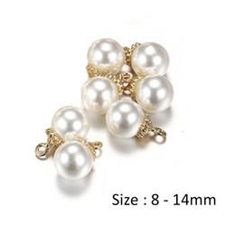 Canada 100pcs / lot perles d'imitation perles Charms pendentif pour collier beaux bijoux pour oreilles femmes fabrication de bijoux cheap beautiful imitation pendants Offre