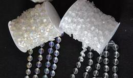 Rollo de cuentas de cristal online-30 metros de cristal de diamantes de acrílico perlas rollo colgando Garland Strand boda cumpleaños decoración de Navidad diy cortina