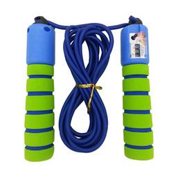 Argentina Cuerda de saltar antideslizante Cuerda de salto de espuma con contador para niños de 5 a 10 años de edad (verde + azul) supplier green counter Suministro