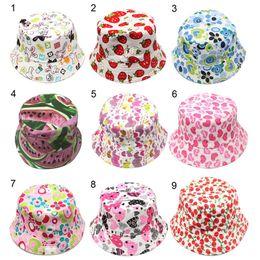 9e472360ecb cartoon bucket hats UK - New Kids Sun Hat Floral Sun Hat Children Bucket  Hats Kids