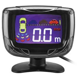 Canada Parktronic Car LCD 4 Inverse Parking Capteurs Sauvegarde Radar Moniteur Voiture Détecteur Alarme Système D'alarme Kit Vue Arrière Radar cheap car alarm system kit Offre