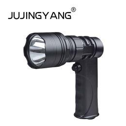 JUJINGYANG CREE LED a forma di pistola di alta qualità, riflettore con spia luminosa spina per sigaretta spina filo di contatto esterno da