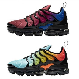 Wholesale Mens Luxury Designer Shoes - 2018 New Color Vapormax Plus TN VM Olive Run In Metallic Mens Designer Shoes Men Running Trainers Women Luxury Brand Sneakers