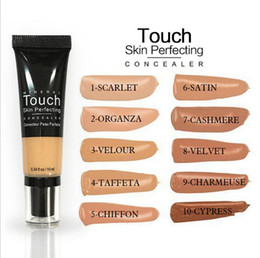 Wholesale mineral cream makeup - Younique Liquid Foundation Mineral Touch Skin Perfecting Concealer Cream BB Cream Makeup Natural Face Cosmetics 10 Colors