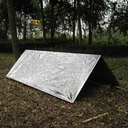 wholesale survival tent Coupons - 2 Persons Emergency Tube Tent Survival Hiking Camping Shelter Outdoor Accessories Portable Ultralight Tent Tendas De Campismo