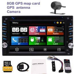 Wholesale Dash Dvd Bluetooth - Rearview camera car dvd player 2din autoradio 6.2'' gps car radio pc in dash mainunit colors button backlight types UI Bluetooth USB